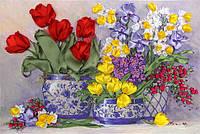 Набор для вышивания атласными ленточками Весенние тюльпаны