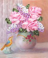 Набор для вышивания атласными ленточками Нежность розы