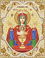 Ткань с рисунком для вышивания бисером Икона Божией Матери ''Неупиваемая Чаша''