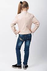 Кожаная куртка  на девочку подростка, фото 3