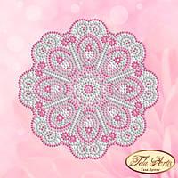 Схема для вышивки бисером Мандала Нежное суфле