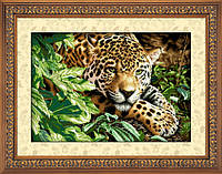 Набор для рисования камнями (холст) Отдыхающий леопард LasKo