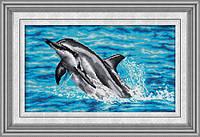Набор для рисования камнями (холст) Дельфин LasKo