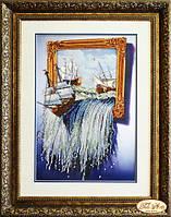 Набор для вышивания бисером Море в картине