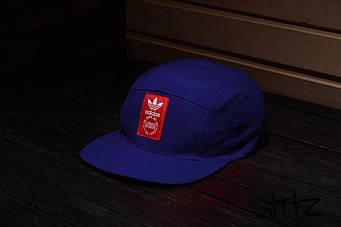 Пятипанельная кепка Adidas синяя
