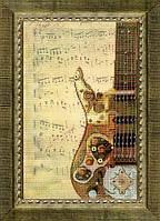 Набор для частичной вышивки крестом Звуки техно
