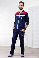 Спортивный костюм 231046 (Синий/Красный/Белый)