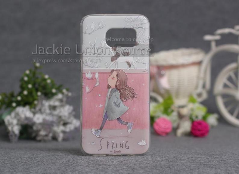 Чехол с картинкой (силикон) для Samsung Galaxy S7 edge Весна