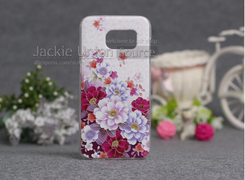 Чехол с картинкой (силикон) для Samsung Galaxy S7 edge Красивые цветы