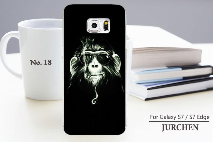 Чехол с картинкой (силикон) для Samsung Galaxy S7 edge Обезьяна