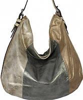 Стильная сумка из трёх цветов кожзаменителя