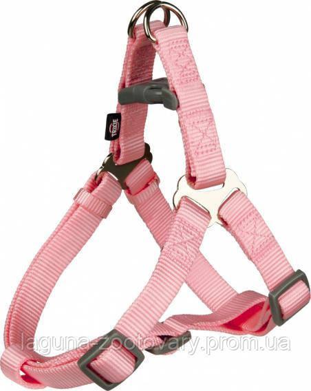 Шлея Премиум для собак 30 - 40см/10мм, розовый