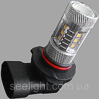 Автомобильная светодиодная лампа с цоколем HB3(9005) в противотуманные фонари 22W + Линза