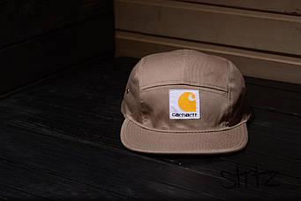 Пятипанельная кепка Carhart бежевая