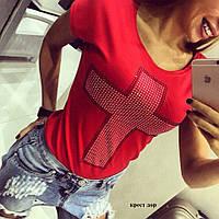 Женская футболка Турция крест дор