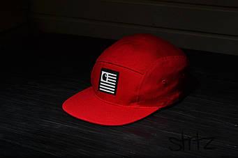 Пятипанельная кепка Carhart красная