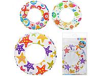 Детский надувной круг для плавания разноцветный | «Intex»