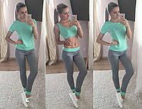 Костюм женский спортивный Трио мята , женская одежда