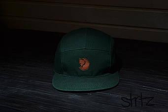 Пятипанельная кепка Fjallraven зеленая