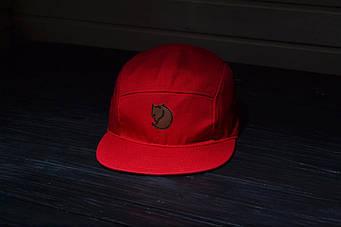 Пятипанельная кепка Fjallraven красный