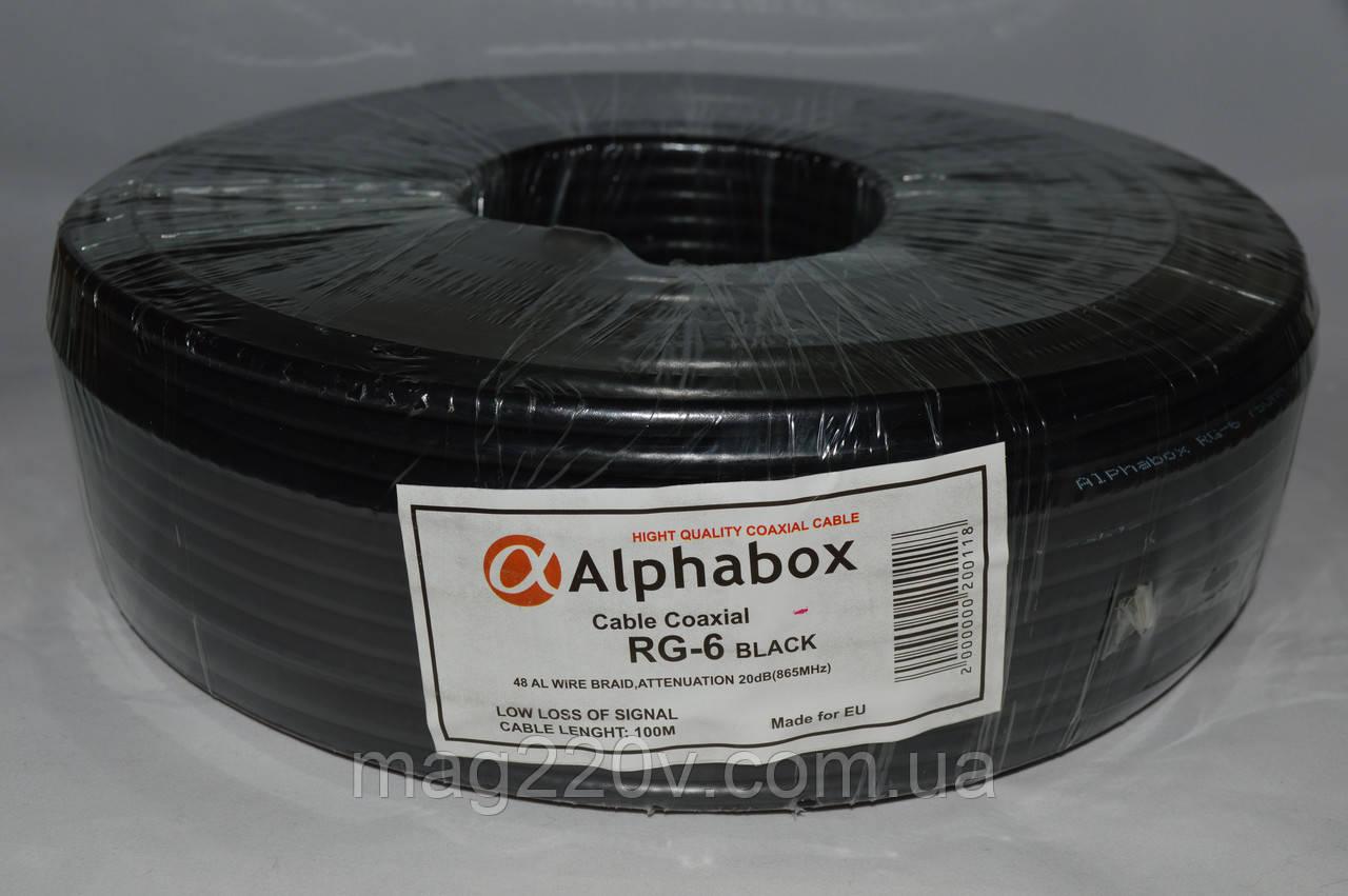 Телевизионный кабель Alphabox 640 (100м) черный
