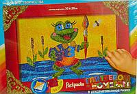 Раскраска глиттером по номерам: Лягушка БМ-01-01 Danko-Toys Украина