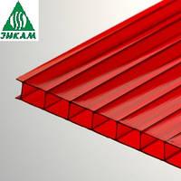 Сотовый поликарбонат Vizor (Визор) зеленый 4 мм Красный