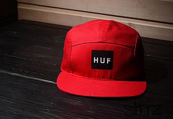 Пятипанельная кепка HUF красная