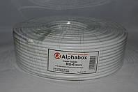 Телевизионный кабель Alphabox 640 (100м) белый