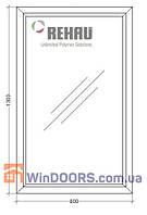 МП Окно глухое в Частный Дом (ПВХ) 800х1300 Rehau Euro-70 энергосберегающее, фото 1