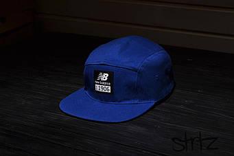 Пятипанельная кепка New Balance синяя