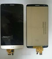 Дисплей (модуль) + тачскрин (сенсор) для LG G3 Stylus D690 D690n D693 D693n (золотой цвет)
