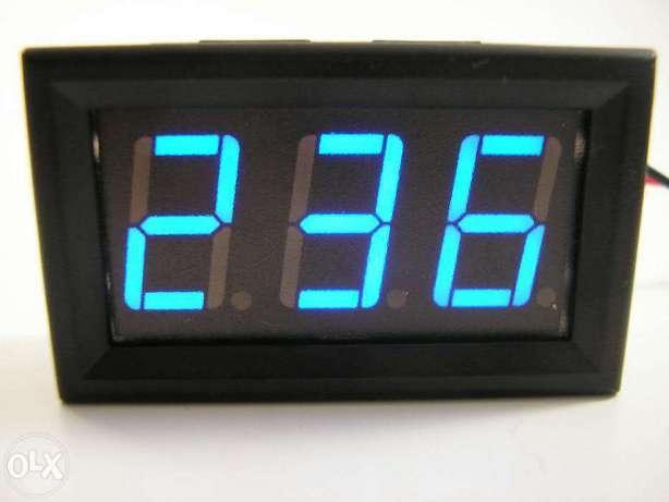 Вольтметр цифровой переменного напряжения AC 30-500V Синий