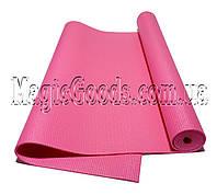 Коврик для йоги (йога мат) 4мм Розовый