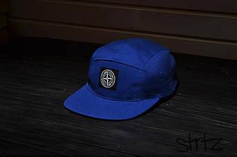 Пятипанельная кепка Stone Island синяя