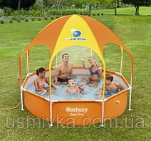 Каркасный бассейн с навесом