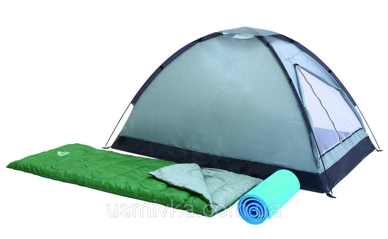 Туристический набор (2-х местная палатка, 2 спальника, 2 каремата)