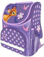 Каркасный школьный ранец короб Bambi для девочек