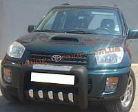 Кенгурятник усиленный из нержавейки и полиуретана на Toyota Rav4 2000-2006
