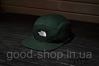 Пятипанельная кепка The North Face зеленая