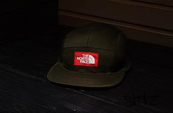 Пятипанельная кепка The North Face коричневая