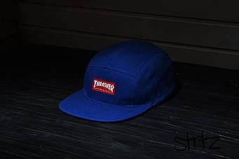Пятипанельная кепка Thrasher синяя