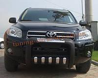 Кенгурятник усиленный из нержавейки и полиуретана на Toyota Rav4 2006-2010