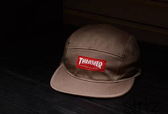 Пятипанельная кепка Thrasher бежевая