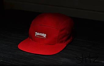 Пятипанельная кепка Thrasher красная