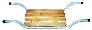 Сиденье в ванну металлическое с деревянной вставкой Солнер CH-001
