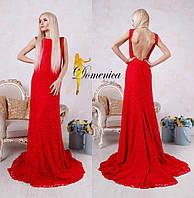Длинное платье с открытой спиной АЛ 691