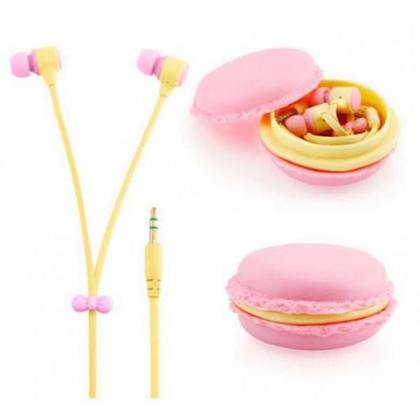 Наушники розовые макаруны Macarons Sibyl