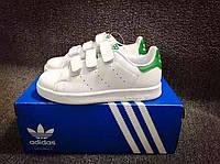 Детские кроссовки Adidas Stan Smith white-green