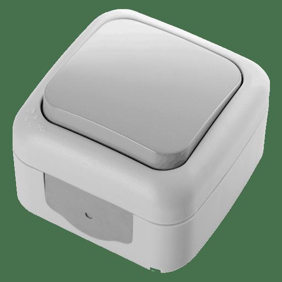 Выключатель одинарный накладной серый VIKO PALMIYE, 3153